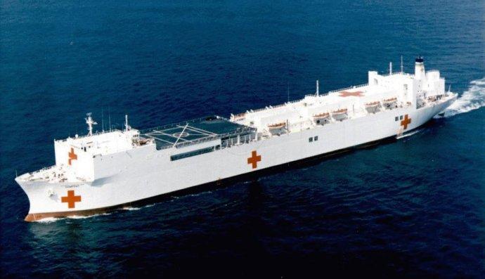 Hospital ship stuck in Las Palmas